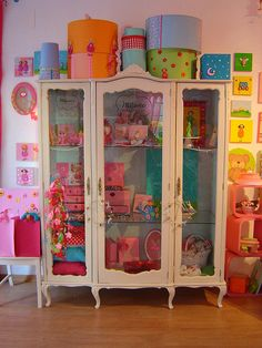a cabinet like this is perfect for storing special possesions so they don't collect dust but you can still look at them