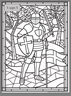 Kleurplaten Middeleeuwse Letters.Middeleeuwen