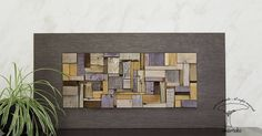Parete scultura decorazione della parete mosaico in legno