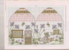 Henrietta Mouse Sewing Set • 3/7 Chart for Outside of the Needle Book