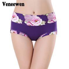 [#] การเปรยบเทยบราคา Plus Size Women Underwear Panties Ladies Seamless Sexy Briefs Floral Print Lingerie Calcinhas Intimates Underpants Ropa S-4XL ซอตอนน