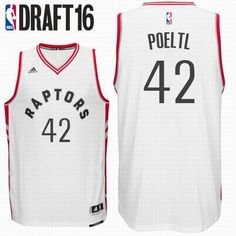 2016 Draft Toronto Raptors  42 Jakob Poeltl Home White Swingman Jersey 2016  Draft 76a46df2a