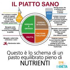 Conoscevi lo schema di un pasto sano ed equilibrato?