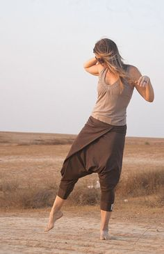 Boho hippie stylish harem pants with elastic waist by lunalin, $59.00