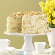 Incredible Coconut Cake Recipe from Taste of Home -- shared by Lynne Bassler of Indiana, Pennsylvania