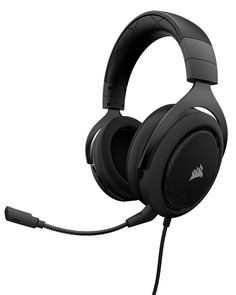 Corsair Pro - Stereo Gaming Headset - Discord Certified Headphones - Works with PC Mac Xbox One Nintendo Switch iOS and Android Carbon
