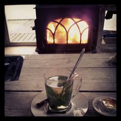 Tea and fireplace