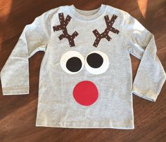 Kids Silly Reindeer Shirt- Custom Size/Shirt Color/Sleeve Length - Boy Girl Reindeer Shirt, Santa Shirt Christmas Shirt Unisex Rudolph Funny by SweetLittleJack on Etsy https://www.etsy.com/listing/256002915/kids-silly-reindeer-shirt-custom