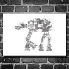 Star Wars art ATAT Walker star wars print movie by Harshness, $19.00