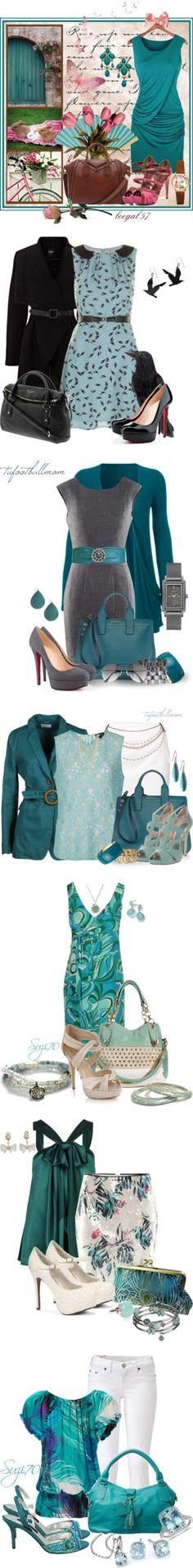 """""""Teal"""" by dwhicks ❤ liked on Polyvore"""