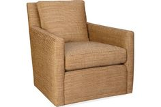 1296-01SW SWIVEL CHAIR OVERALL W31D34H34 INSIDE W20D20H16  SEAT HT 17 ARM HT 23 BACK RAIL HT