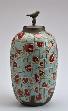 Bird Jar: Boyan Moskov: Ceramic Vessel - Artful Home