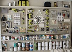 Amazing pegboard storage for home workshop