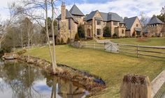 Exterior view/pond #ListingOfTheWeek http://www.facebook.com/media/set/?set=a.10151263725976403.1073741825.71257806402=3  #realestate #home #mansion