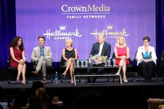 Andie MacDowell Photos Photos - (L-R) Actors Andie MacDowell, Dylan Neal, Teryl Rothery, Bruce Boxleitner, Barbara Niven and author Debbie Macomber  speak onstage during the Debbie Macomber's Cedar Cove panel at the Hallmark Channel and Hallmark Movie Channel portion of the 2013 Summer Television Critics Association tour at the Beverly Hilton Hotel on July 24, 2013 in Beverly Hills, California. - Summer TCA Tour: Day 1
