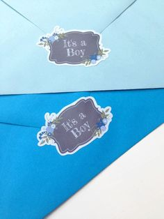 Its A Boy Baby Shower Envelope Seals Invites Labels Seal Stickers 049