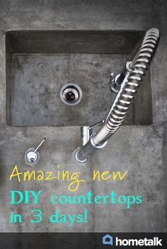 Amazing new DIY countertops in 3 days!