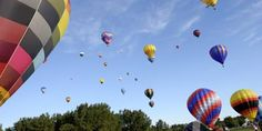 on the day my youngest son was born, the sky was filled with hot air balloons. it felt like a celebration.