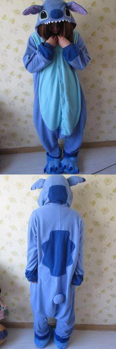 Disney Lilo & Stitch One-piece Flannel Pajamas for Halloween Costume Ideas, Disney Costumes