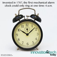 Reposting @innotechtoday: We're going to guess this model didn't come with a snooze button...