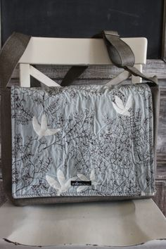 $120  Upcycled from XS textiles diverted off the path to landfill.  Eco-functional Liberation Laptop Bag