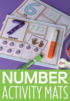 Number Sense Number Activity Matten & Knetmatten - Composing and Decomposing Numbers - Kindergarten Numeracy Activities, Small Group Activities, Number Activities, Fun Math Games, Counting Activities, Numbers Kindergarten, Numbers Preschool, Learning Numbers, Preschool Activities