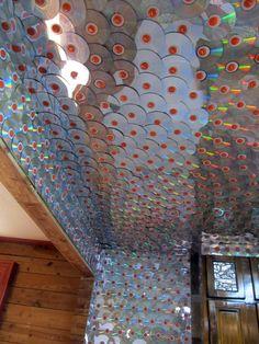 Oak Street House: CD ceiling!