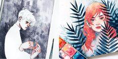 watercolor portraits by kelopsloops