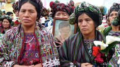 Ixil women marching in memory of the dead and disappeared.