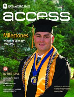 """Sacramento State's """"access"""" magazine. I'm honored to be featured, and share my story."""
