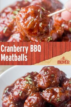 Sweet & tangy meatball recipe perfect for a holiday party from @WishesnDishes.