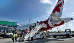 Arriba a Cuba primer vuelo de la aerolínea canadiense Rouge. El primer vuelo a Cuba de la aerolínea Rouge, del turoperador Air Canada,  llegó el sábado al aeropuerto internacional Jardines del Rey, de Cayo Coco, con 139 turistas de diferentes ciudades canadienses.