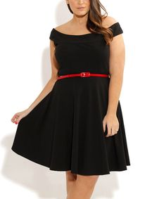 Another great find on #zulily! City Chic Black Bridgette Skater Dress - Plus by City Chic #zulilyfinds