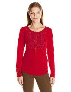 Lucky Brand Women's Washed Bib Henley Thermal Shirt, Berr... https://www.amazon.com/dp/B01ETWV4N6/ref=cm_sw_r_pi_dp_x_dfMpybRC4BC03