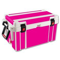 MightySkins Protective Vinyl Skin Decal for Pelican 65 qt Cooler wrap cover sticker skins Solid Hot Pink *** You can get more details by clicking on the image.