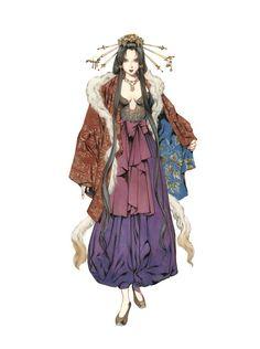 新キャラクターの玉藻前(「山田章博」氏のイラスト)