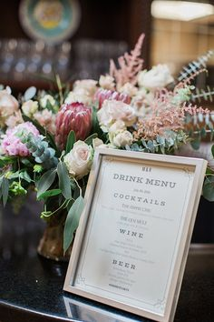 Photo from Robin + Melissa collection by Natalie Bray Photography #Weddingdrinks #drinkmenu