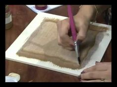 Vida Melhor - Artesanato: Técnica pátina em linho (Carlos Saad) - YouTube