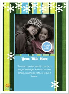 Christmas Ecards for Free: Winter Stripes by Paper Mango