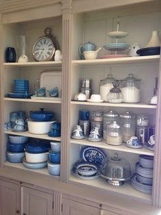 White & blue ceramics