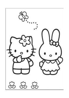 Hello Kitty Kleurplaten voor kinderen. Kleurplaat en afdrukken tekenen nº 2