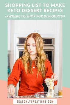 Keto Shopping List to Make Keto Dessert Recipes | Are you following the keto diet and miss enjoying sweets? Be sure to grab my Keto Shopping List for Making Keto Dessert Recipes, PLUS, where you can shop for discounts! Click through to grab the full list. #keto #ketodesserts #lowcarbrecipes #healthydesserts #healthyrecipes #lowsugarrecipes #ketosnacks Dairy Free Donuts, Dairy Free Muffins, Dairy Free Baking, Dairy Free Snacks, Low Sugar Desserts, Low Sugar Recipes, Healthy Desserts, Dessert Recipes, Low Carb Brownie Recipe