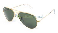 O Ray-Ban RB 3026 Aviador é um modelo baseado no grande sucesso de óculos Ray-Ban Aviador RB 3025. Se você possui um rosto maior o óculos RB 3026 Aviador é um modelo perfeito para você, pois ele possui todo o estilo do óculos aviador em um tamanho maior. Com toda qualidade Ray-Ban o óculos aviador RB 3026 garante a proteção necessária o conforto para o uso diário.   http://www.oticasbrasil.com.br/rayban-aviator-large-metal-rb-3025-w3234-oculos-de-sol