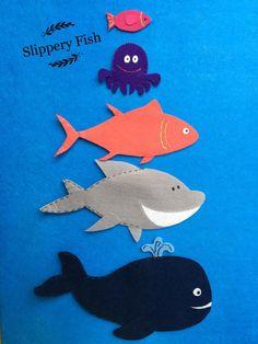 Slippery Fish Felt Set/Flannel Board Set/Preschool/Colors/Creative Play/Imagination/Pretend Play/Ocean/Pretend Play