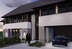 Villa T3 - interior   architecture   totaal concepten   interieur   tuinplan - Marco van Veldhuizen Best Modern House Design, Villa Design, Steel Buildings, Building Design, Home Interior Design, Beautiful Homes, Floor Plans, House Styles, Houses