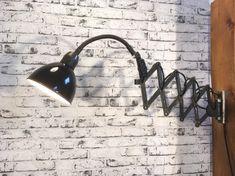 Enamelled scissor lamp Wall Lights, Lighting, Home Decor, Homemade Home Decor, Appliques, Light Fixtures, Lights, Interior Design, Lightning
