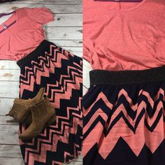 How amazing is the Lola skirt?! Join my Facebook group for outfits like this! LuLaRoe Bryanna Osieczanek!