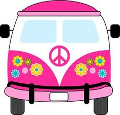 dibujos clipart digi stamps hippie van blue car imprimibles rh pinterest com  vw bus vector clipart