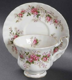 Lavender Rose Footed Cup & Saucer Set by Royal Albert China Cups And Saucers, Teapots And Cups, China Tea Cups, Royal Albert, Cup And Saucer Set, Tea Cup Saucer, Antique Tea Cups, Vintage Teacups, My Cup Of Tea