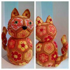 Cat crochet / kat haken / african flower